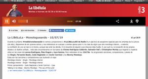 Radio 3 La Libélula 09:07:19
